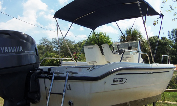 Belle Harbour Boat Rentals - Forest Ridge: $133for Eight-Hour 18.5' Boston Whaler Rental for Up to Five at Belle Harbour Boat Rentals ($275 Value)