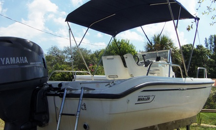 $149for Eight-Hour 18.5' Boston Whaler Rental for Up to Five at Belle Harbour Boat Rentals ($275 Value)