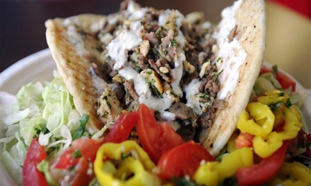 $12 for Two Groupons, Each Good for $10 Worth of Food at Taste of Jerusalem Café ($20 Total Value)