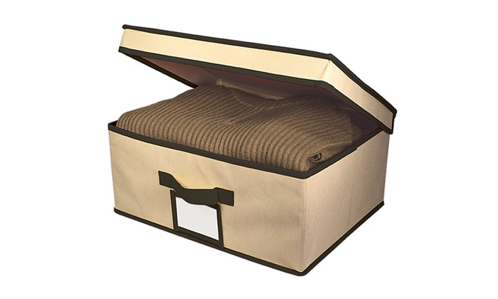 Multiple Colors Available Fabric Storage Box With Lid: Fabric Storage Boxes  With Hinged Lids. Multiple Colors Available