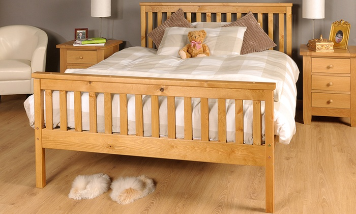 Sardinia Solid Wood Bed Frame with Optional Mattress