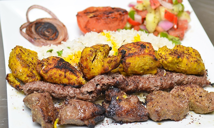 Skewers Kabob House - Midway Square: Kabobs and Mediterranean Cuisine at Skewers Kabob House (Up to 40% Off). Two Options Available.