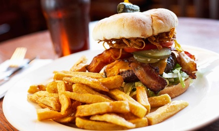 American Food and Drinks for Two or Four at The Blue Bull Bar & Grill (Up to 50% Off)