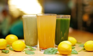 Juice Me Health Bar: $12 for Three Groupons, Each Good for $10 Worth of Juice at Juice Me Health Bar ($30 Total Value)