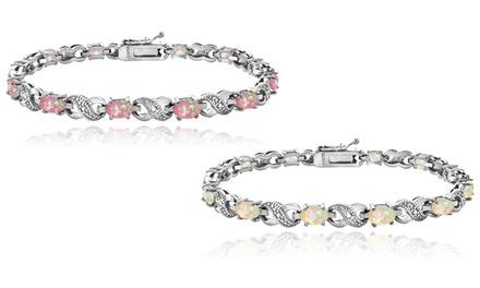 3 CTTW Opal Bracelet with Diamond Accent