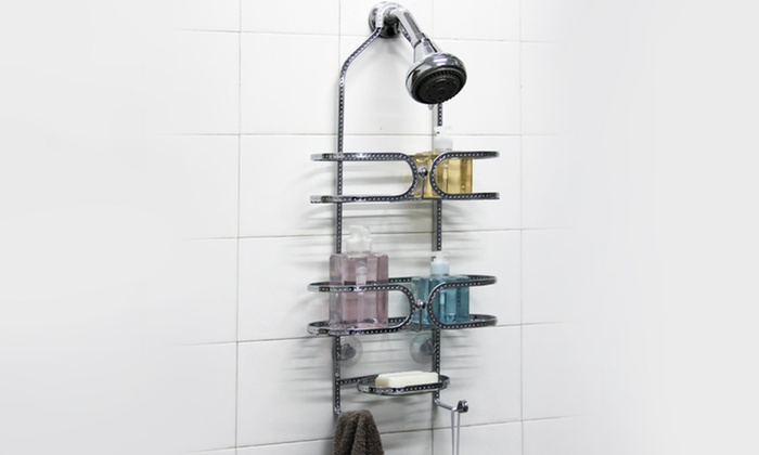 3-Tier Hammered Chrome Shower Caddy: 3-Tier Hammered Chrome Shower Caddy. Free Returns.