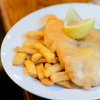Fish and Chips with Tea