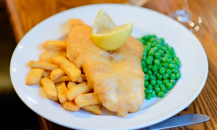 Fish and Chips Meal with Pot of Tea Each for Two or Four at The Telford Arms (Up to 45%)