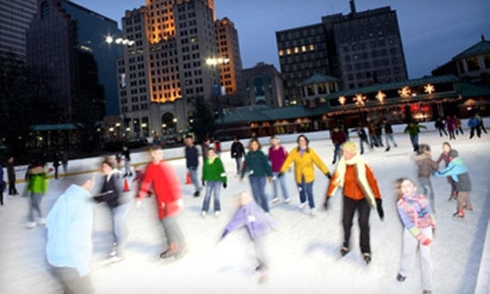 Bank of America City Center - Downtown Providence: $10 for Ice Skating with Skate Rental for Two at Bank of America City Center (Up to $20 Value)