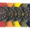 Regimen Men's Rubber-Strap Classic Analog Watches