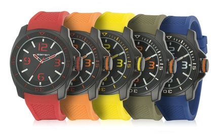 Regimen Men's Rubber-Strap Classic Analog Watches