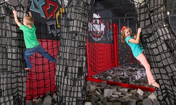 Krazy Air Trampoline Park - Mesa: Two Hours of Jump Time and Medium Sodas for Two or Four at Krazy Air Trampoline Park (Up to 24% Off)