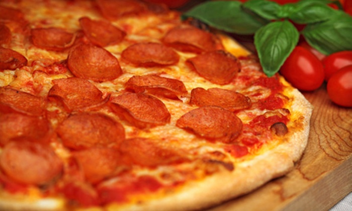 Peppino's Pizzeria - Multiple Locations: Pizza Meal for Two with Salad and Drinks or $10 for $20 Worth of Pizza and Casual Italian Fare at Peppino's Pizzeria
