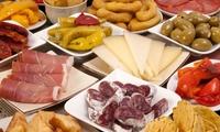 Tapeo para 2 o 4 con tabla, pulgas y botella de vino desde 12,95 € en Gourmet Sala de Degustaciones Almería a la Carta