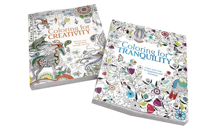 coloring for creativity and coloring for tranquility adult coloring book bundle coloring for creativity and