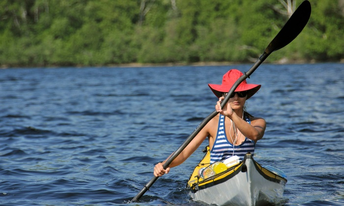 Georgia Wine Kayaking - Danielsville: Kayak or Canoe Tour with Wine Tasting for One or Two from Georgia Wine Kayaking (Up to 52% Off)