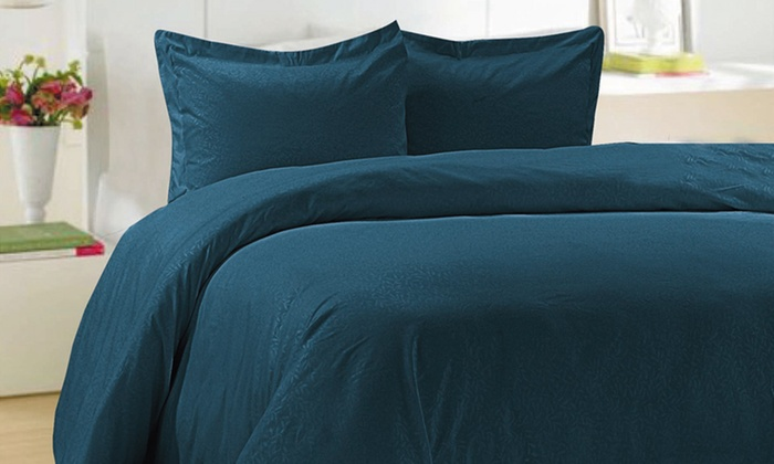 Essentially Home Embossed Living Leaf Pattern Duvet Set: Essentially Home Embossed Living Leaf Pattern Microfiber Duvet Set. Multiple Colors Available. Free Shipping & Returns.