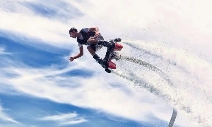 Aquaflyboarding USA - California - Aquaflyboarding USA - California: 30-Minute Flyboard Flight, X-JetBlade Flight, or Both for One or Two at Aquaflyboarding USA (Up to 53% Off)