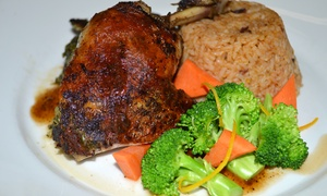 VIVID : Caribbean American Food & Beverages at VIVID (Up to 50% Off). Two Options Available.