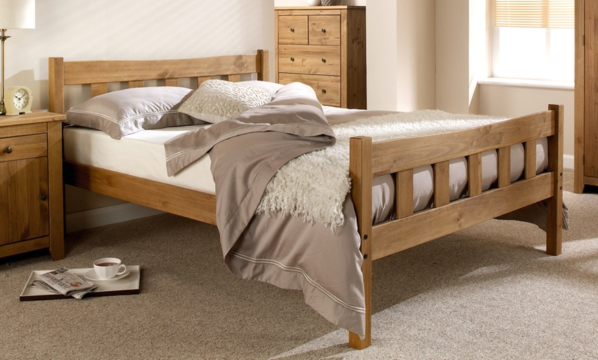 Handcrafted Shaker-Style Wooden Bedframe
