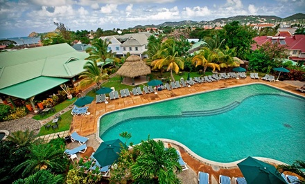 Groupon Deal: Three-, Four-, or Five-Night All-Inclusive Stay at Coco Palm in St. Lucia. Starting at $399 Total, $199.50 Per Person.