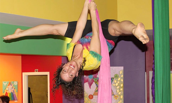 Learning2Fly - Mission: Two Aerial Fitness Classes for One or Two People at Learning2Fly (Up to 44% Off)