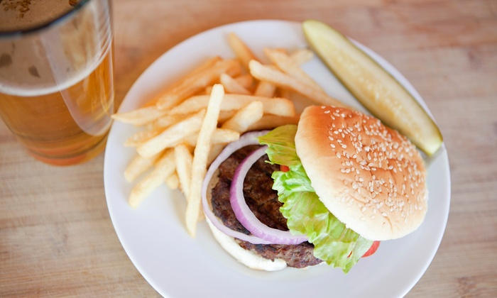 Jake's Wayback Burgers - Bethlehem: Cheeseburgers, Fries, and Drinks for Two, or Two Vouchers for American Food at Jake's Wayback Burgers (Up to 52% Off)