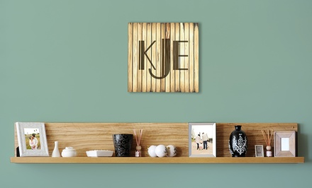 One Custom 11.5x11.5, 15x15, or 17x17 Wooden Monogram Plaque from United Sign Depot (Up to 54% Off)