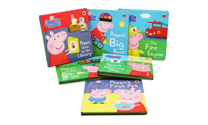 Set Of Six Peppa Pig Board Books Groupon Goods