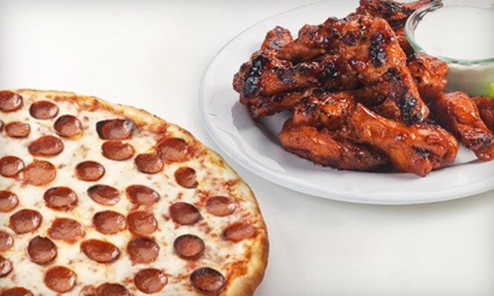 Just Pizza - Multiple Locations: $10 for $20 Worth of Pizza, Wings, and Subs at Just Pizza. Two Locations Available.