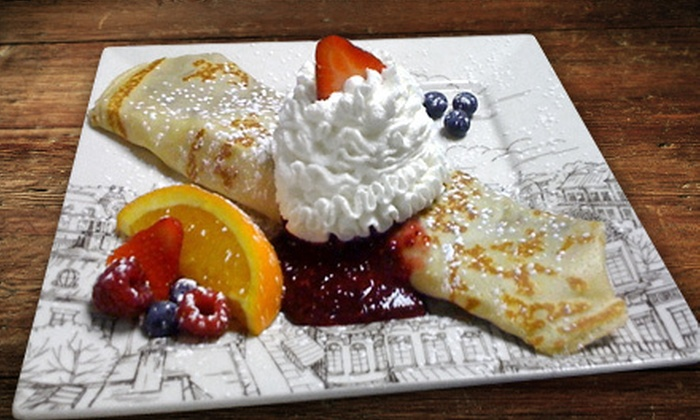 what crêpe - Royal Oak: $12 for $24 Worth of Sweet and Savory Crepes at what crêpe in Royal Oak