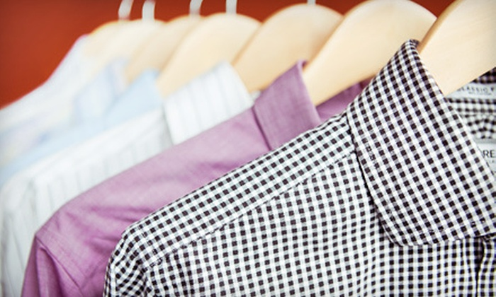 Village Cleaners - Multiple Locations: Dry Cleaning or Bridal-Gown Cleaning at Village Cleaners (Up to 60% Off). Three Options Available.