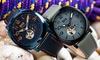 Reign Napoleon Men's Automatic Semi-Skeleton Genuine Leather Watch