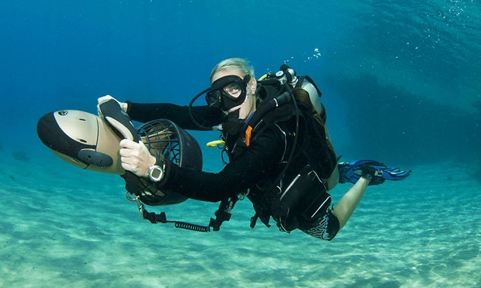 Beach Cities Scuba Centers - Multiple Locations: PADI Open Water Diver Course with Option for Two Underwater Scooter Dives at Beach Cities Scuba (Up to 71% Off)