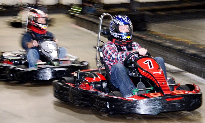 RushHour Karting - Rush Hour Karting: Two Eight-Minute Races or Grand Prix Race Package for up to 10 at RushHour Karting (Up to 55% Off)