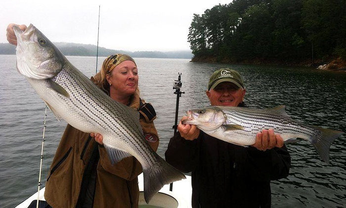 Extreme Stripers Guide Service - Acworth: $175 for a Half-Day Fishing Trip for Two from Extreme Stripers Guide Service ($300 Value)