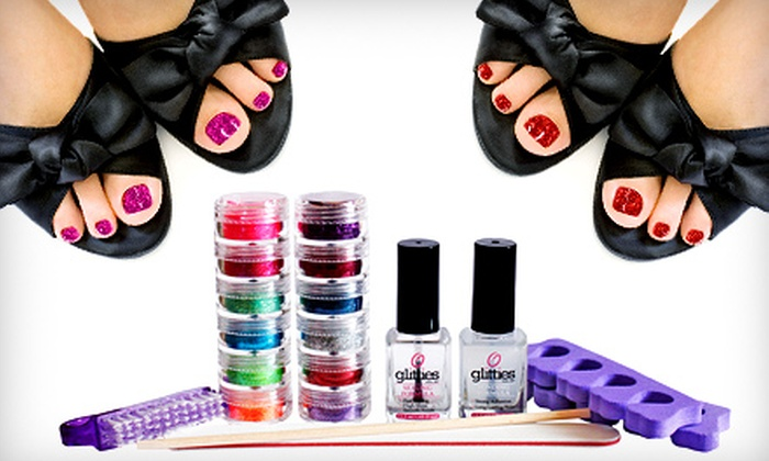Glitties Nail Art - American Fork: $39 for a One-Year Supply of Do-It-Yourself Glitter Toes Supplies from Glitties Nail Art ($86.50 Value)