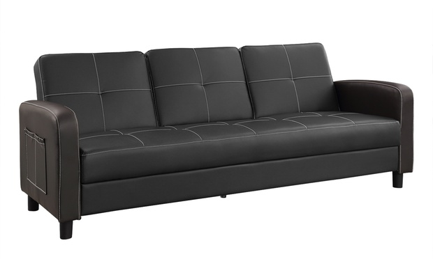 Tampa three seater sofa bed groupon for Sofa bed groupon