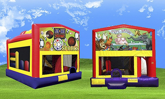 Funtastic Jumps - West Old Town: Party and Concessions Credit with Deluxe or Slide/Combo/Interactive Bounce House from Funtastic Jumps (Up to 56% Off)
