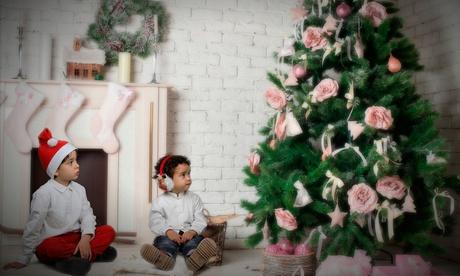 Sesión de fotos navideña en grupo con CD y 5 fotos impresas por 24,95 € y con 1 foto impresa y 10 postales por 29,95 €