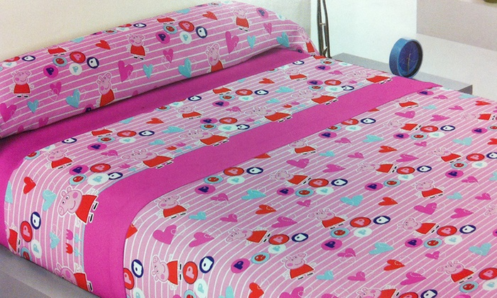 Trapunta Di Peppa Pig.Completo Letto Peppa Pig Groupon Goods