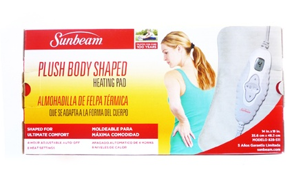 Sunbeam Plush Body-Shaped Heating Pad with Digital LCD Controller
