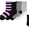 4 Pairs of K. Bell Women's Relaxed Roll-Top Socks