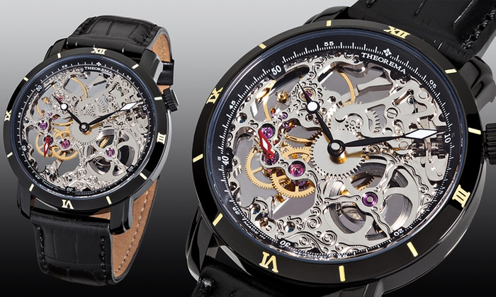 Mens Theorema Rio Skeleton Watch 4