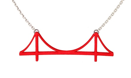 3D-Printed Golden Gate Bridge Necklace