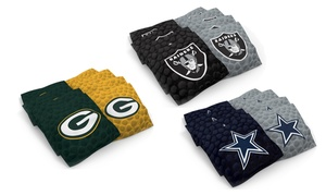 NFL Leather-Print Cornhole Bags: NFL Leather-Print Cornhole Bags
