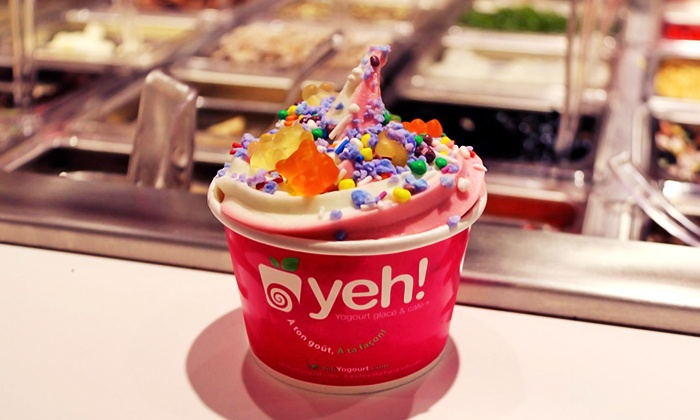 Yeh! Frozen Yogurt & Cafe - Multiple Locations: Self-Serve Frozen Yogurt and Other Desserts at Yeh! Frozen Yogurt & Cafe (40% Off). Three Options Available.