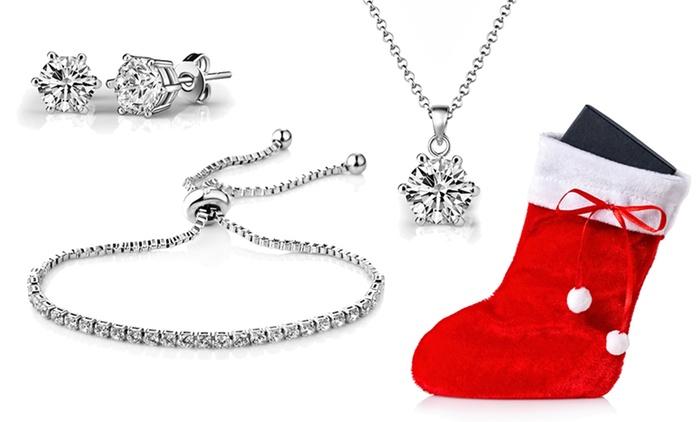Set de joyería Solitaire Friendship con cristales de Swarovski® por 19,99 € con envío gratuito