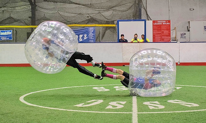 bubbleball.me - Jackson Mann School: One Bubble-Soccer Game Including Indoor Space Rental and Referee from BubbleBall (Up to 56% Off)