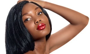 Denise Lyons at Glam Palace Salons: Haircut and Relaxer, a Silk-Press Hair Straightening, or Weave with Denise Lyons (Up to 55% Off)